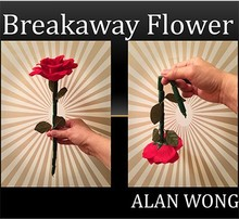 A section of a rod broken flowers (rose The Breakaway Flower) close stage comedy magic props The Rose Bar splitting,magic tricks