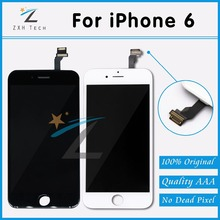 10 PCS/LOT Free DHL Shipping Black & White LCD for iPhone 6 Display 4.7'' Touch Screen Replacement Digitizer Assembly A+++++