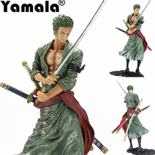 [Yamala] Anime Figurine Action Figure One Piece Roronoa Zoro PVC Doll Model Toy 20cm Christmas toy model toys for children(China)