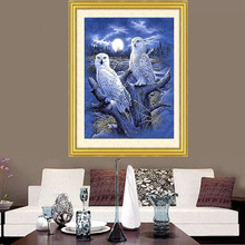 Diamond Embroidery Diy Diamond Painting Cross Stitch Kits Diamond Mosaic The owl under the moon Full Square Diamond Embroider AD(China)