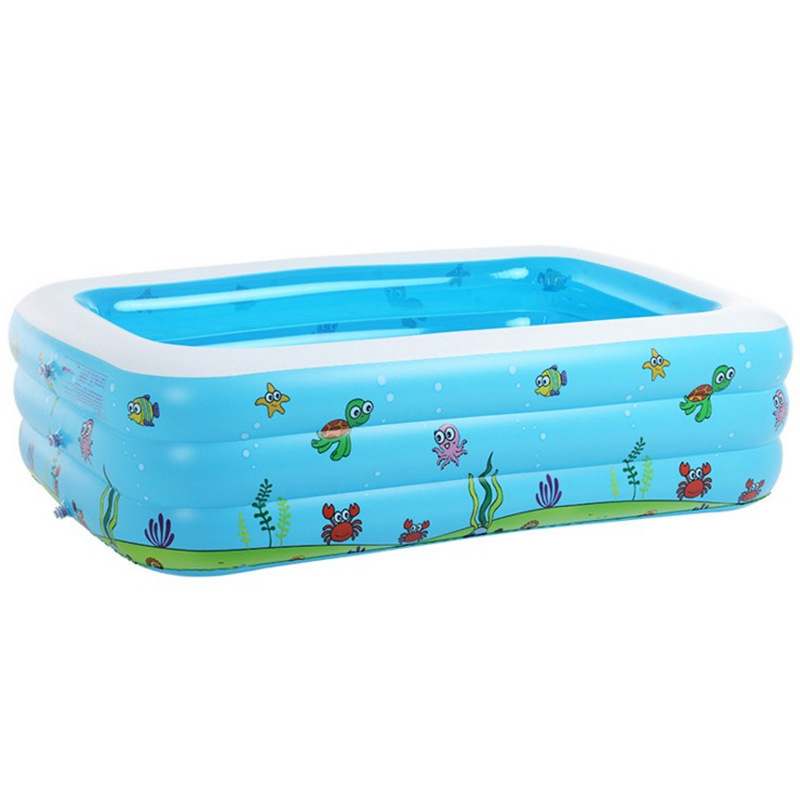 Baby Inflatable Swimming Pool For Summer Kids Game Pool Fencing For Children Portable Bath Tub Baby Miniplayground 110x90x46cm<br>