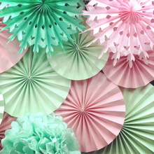 Panduola Round Paper Fans  Colorful Paper Flowers Wedding Home Baby Shower Birthday Party Decorations  Wall Decoration