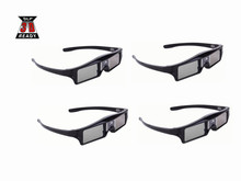 4pcs DLP-Link Active Shutter 3D glasses for Optoma BenQ Acer Viewsonic Dell Projector 144hz DLP link 3D Projector Glasses(China)