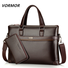 Famous Brand Fashion Casual Leather Men's 2 Set Bag Shoulder Bag Messenger Bags Business Handbag Laptop Male Briefcase