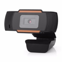 Digital USB HD Webcam Orange Color 360 Degree Rotatable Built-in Microphone for Skype Instagram Video Call in Laptops Desktop