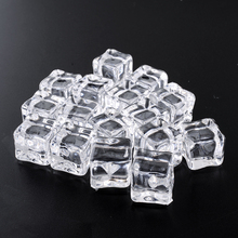 16PCS/Lot Wedding Decor Clear Square Lifelike Fake Artificial Acrylic Ice Cubes Crystal Home Display 2x2CM artificial Casamento