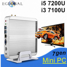 [7th Gen Intel Core i3 7100U] Eglobal Kaby Lake Mini PC Windows 10 Barebne Intel HD Graphics 620 Micro PC 4K HTPC Linux Kodi(China)