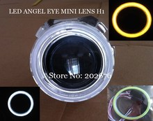 FREE SHIPPING, 2015 CHA LED ANGEL EYE MINI HID BI-XENON PROJECTOR LENS 2.5 INCH, HEADLHT EASY INSTALL H1 H4 H7 HB3 HB4 RHD LHD