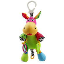 Baby Musical Crib Mobiles Hanging Donkey For KidsToys Early Education For Baby Comfort Developmental Toy Infant Car pet Rattle