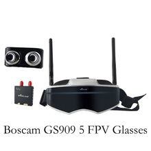 Newest Boscam GS909 3D Video FPV Goggles 5.8G 32CH Glasses With Double Transmitting Lens 2D/3D Free Switching Free Shipping