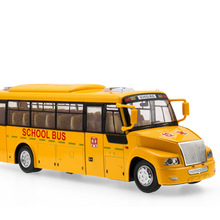 2017 Hot sell 1:36 Yellow School Bus Diecast Alloy Metal Luxury Bus Model Collection Model Pull Back Toys Car Gift For Boy