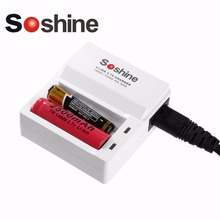 Soshine F7 2 Slots Rapid Smart Battery Chargers with LED Indicator For 3.7V AA  AAA 14500 10440 Li-ion Rechargeable Battery EU
