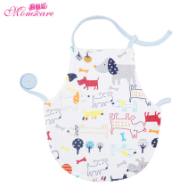Mom's care 100% Cotton Coverall Baby Bibs Cartoon Infant Toddler Feeding Smock Baby Girls Boys Bib Burp Cloths Summer Sleepwear