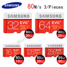 Buy 100% Original SAMSUNG EVO+ Memory Card 16gb 32gb 64gb 128gb 80M/s Class10 flash card Micro sd card TF card 3 pieces Free Ship for $44.19 in AliExpress store