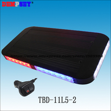 Free shipping!TBD-11L5 High quality  LED mini lightbar,blue&red police light,DC12V Car Flashing warning light,cigar light switch