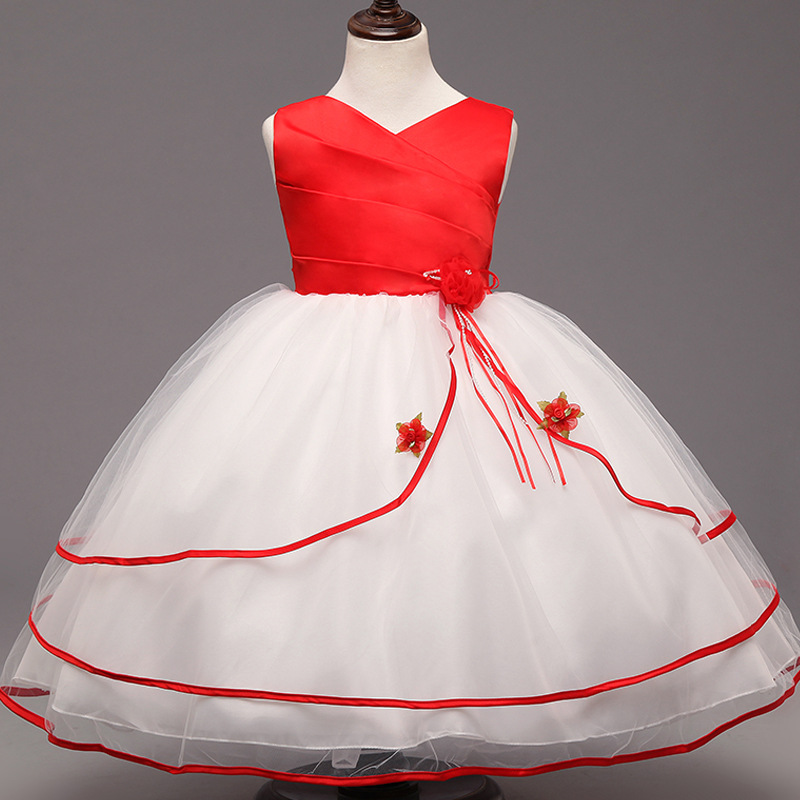 Flower Girls Dress Wedding Gown Kids Long Dresses For Girl Evening Party Wear Pageant Ceremonies Clothes Teenage Girl Clothing<br><br>Aliexpress