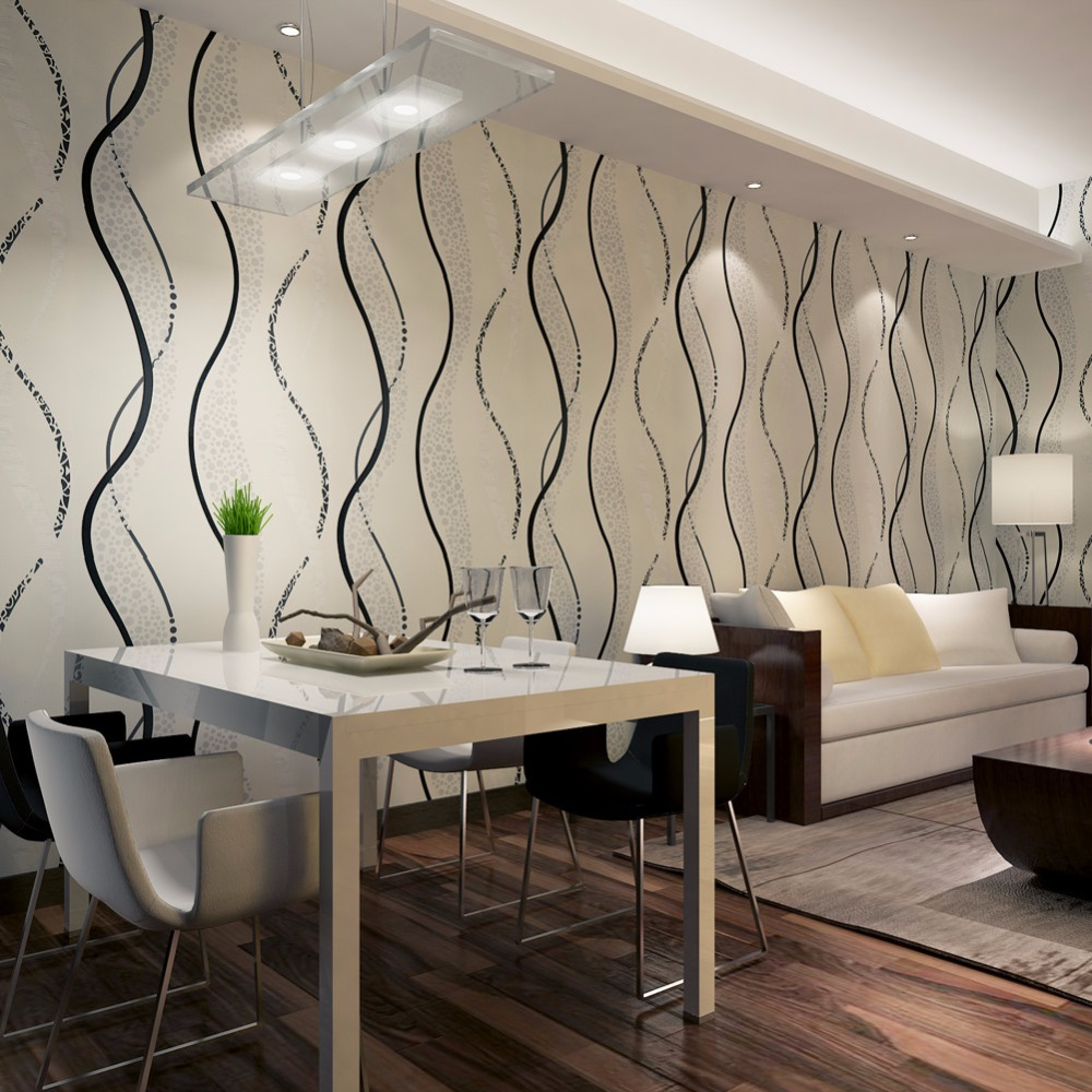 Modern Embossed Silver Wallpaper Line Dots For TV Background Wall Coverings Best Home Decor Wallpaper QZ0529<br>