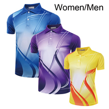 Free Print badminton shirt Men / Women , Table tennis shirt , Badminton t shirt female/male , sports Tennis shirt 5051AB