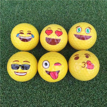 2017 New Funny Golf Balls 6 Styles Yellow Ball Golf Game Training Gift Accessories Free Shipping(China)