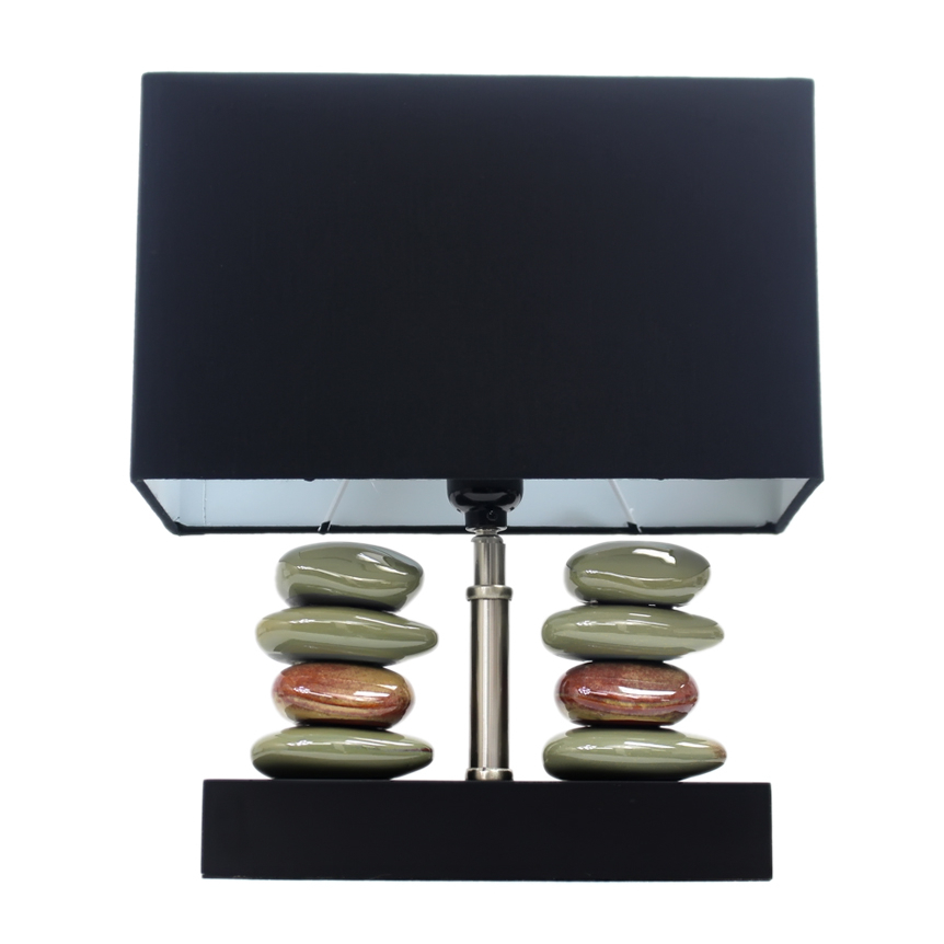 Elegant Designs Rectangular Dual Stacked Stone Ceramic Table Lamp with Black Shade (4)