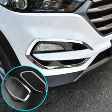 For 2015 2016 2017 Hyundai Tucson Front Head Fog Light Foglight Lamp Chrome Cover Trim Insert Accent Styling Garnish Molding(China)