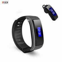 FX-3 Touch Screen Smart Bracelet Bluetooth Headphone Handsfree Bluetooth Wrist band Passometer For apple phone For android phone(China)