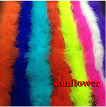 2017 New 80''/2M Marabou Feathers Boas Colorful Feather Strip For DIY Clothes Garment Accessories Party Decoration