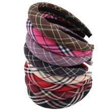 Thick Plaid Plastic Hairbands Headbands for Women Fashion Hair Accessories
