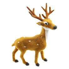 Cute Plastic Simulation Reindeer Deer Christmas Ornament Plush Children Toy Christmas Tree Home Decorations(China)