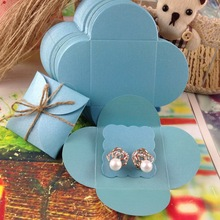 1Lot =50 pcs cover +50  inner Card  Earirng Box  size :13x13cm Cover Inside Card 5X5CM Packing Earring Custom Logo Cost Extra