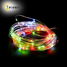 Cheap Decor Silver Wire LED 5M 3M Copper Wire 3AA Battery Operated LED Fairy String Light for Christmas Holiday Wedding Party(China)