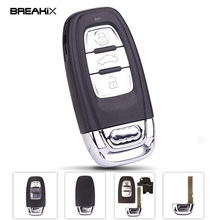 Breakix Car Keys 3 Button Replacement Key Shell For Audi A4L A6L A7 A5 Q3 Q5 Q7 Smart Remote Keys With Key Blank(China)