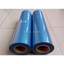 CDG-12 blue color Best sell glitter heat transfer vinyl film/transfer for cloth(China)