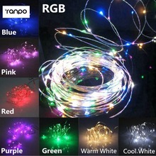 HOT 3AA Battery Powered 2M 20 led Garland RGB Multicolor Fairy String Lights Silver Wire Christmas Lampada Holiday Lighting