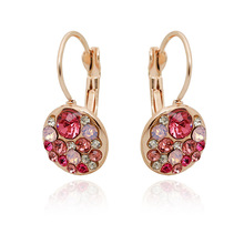 Brincos Ohrringe Phone 2pair wholesale USA style Bohemia Earring UK AAA red mond jewelry rose  earrings ear clip