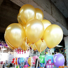 Gold Balloons 10pcs/lot Thick 1.5g Latex Helium Balloon Inflatable Wedding Decorations Air Balls Birthday Party Supplies Balloon(China)