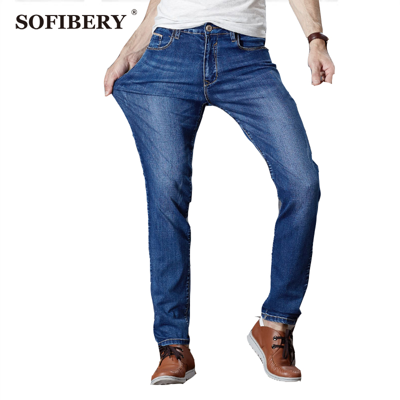 SOFIBERY  Brand Mens Jeans European Mens Fashion Jeans Seasons models big yards high elastic Slim Straight jeans M919-8910Одежда и ак�е��уары<br><br><br>Aliexpress