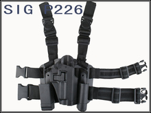Emerson P226 Type Pistol Tactical Puttee Thigh Pistol Holster Leg Gun Pouch with Quick Release Buckle Black(China)