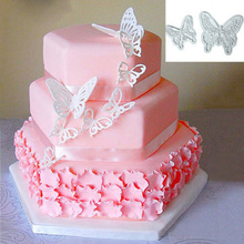 2pcs DIY Butterfly Cutters Cake Tools Fondant Sugar Craft Cookie Decorating Tool FM1127
