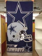 Hot Sale Customized 100% Dallas Cowboys Football Sports Beach Towel 30inches x 60inches Sports Towel Wholesale