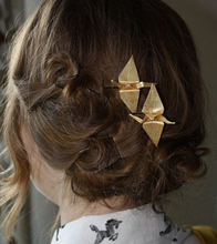 Timlee H125 Free shipping Vintage Hairpins Paper Cranes Design Metal Hair Clip hair accessory wholesale(China)
