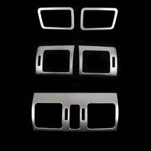 5pcs stainless steel upper down middle side air vent AC conditioning trim for Subaru XV Forester 2013 2014 2015 2016(China)