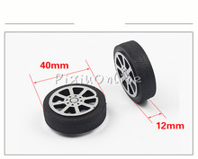 4pcs YL818 40*12*2.5mm D-hole Plastic Wheel Suitable Shaft Tire Car Robot DIY Toy Parts Model Suvs Pulley Model Making Sell Loss