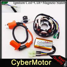 Magneto Stator Racing Ignition Coil  6 Pins Wires AC CDI Box For Chinese GY6 125cc 150cc Engine ATV Quad Moped  Scooter