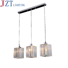 Z Modern Round LED Crystal Chandelier Clear K9 Crtstal Rectangular Dining Table Lamp For Bar coffee shop Ceiling Light Fixture
