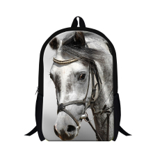 Ferghana horse backpacks for primary students,school back packs for teens,boys plush horse bookbags for travling,leisure bag