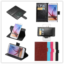 Top Selling 5 colors Fashion 360 Rotation Ultra Thin Flip PU Leather Phone Cases For BRAVIS Atlas A551(China)