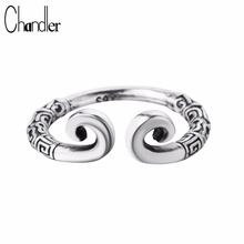 Chandler 925 Sterling Thailand Silver Jewelry Retro Tight Hoop Rings Monkey King With Incantation For Woman Carter Finger Bague