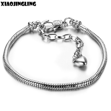 XIAOJINGLING Wholesale DIY Jewelry Bracelet Fashion Snake Chain Base Chain Bracelet For Women Bangles Birthday Gifts Accessories(China)
