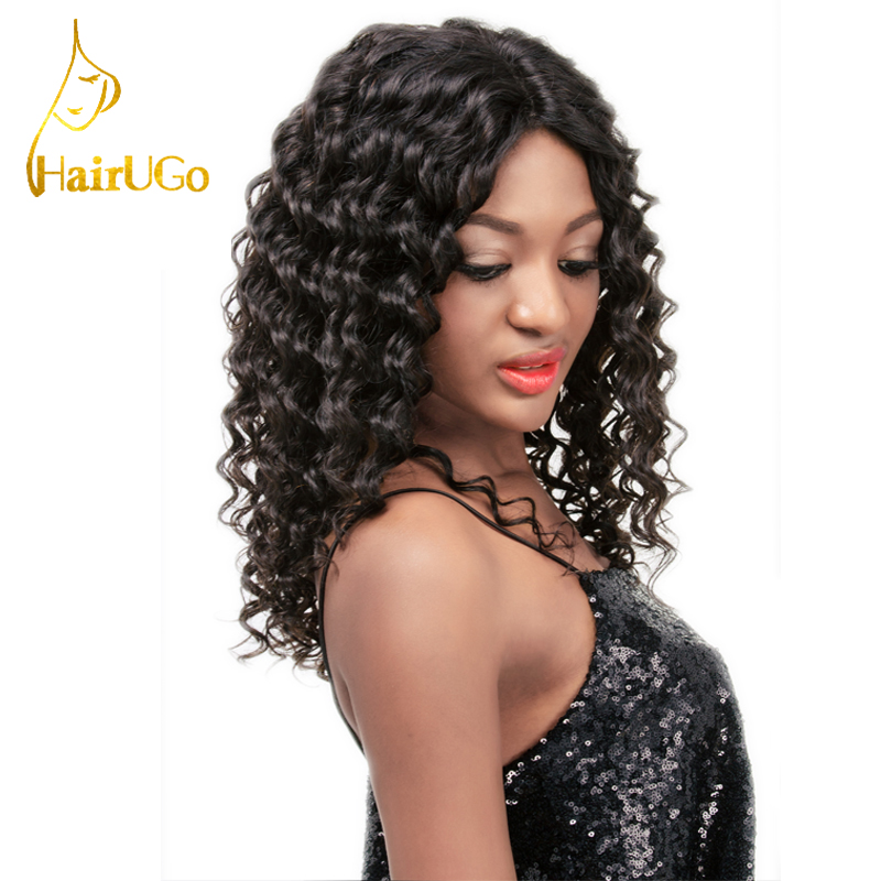 6A Grade  unprocessed  pineapple wave natural color  lace front wig